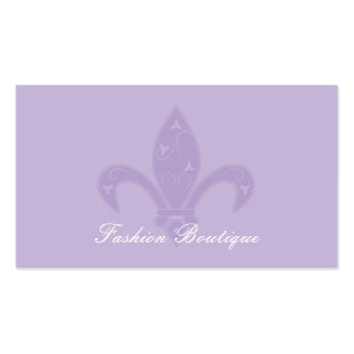 Lilien-Butike-Lavendel Visitenkartenvorlage