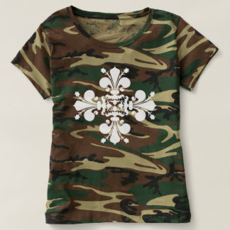 Lilien-Camouflage T-Shirts