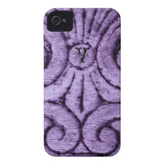 Lilien-Entwurf (lila) Case-Mate iPhone 4 Hülle