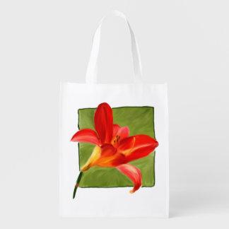 Lilien-faltbare Einkaufstüte Wiederverwendbare Einkaufstasche