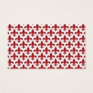 Lilien-französisches Rot Visitenkarte