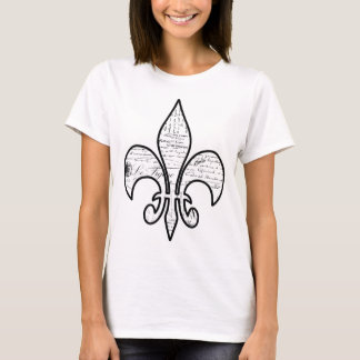 Lilien-französisches Skript fasst Paris ab T-Shirt