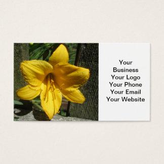 Lilien-Gelb verwitterter Zaun Visitenkarten