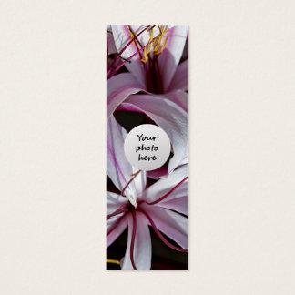 Lilien-Gewohnheits-Lesezeichen Mini Visitenkarte