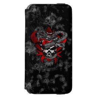 Lilien iPhone 6s des Drache-Schädel-w/Shadow Fall Incipio Watson™ iPhone 6 Geldbörsen Hülle