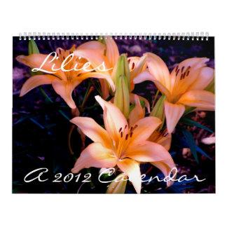 Lilien - Kalender 2012