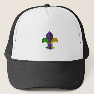Lilien-Karneval-New- Orleansjuwel-Schein Truckerkappe