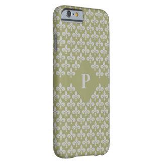 Lilien-kundenspezifische Monogrammtelefon-Hüllen Barely There iPhone 6 Hülle