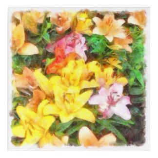 Lilien Liebe und LichtWatercolor Acryldruck