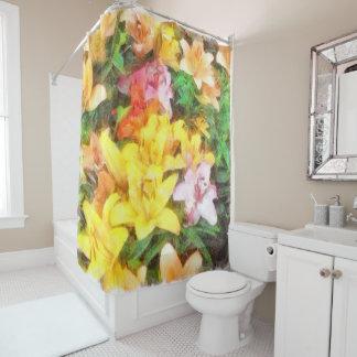 Lilien Liebe und LichtWatercolor Duschvorhang