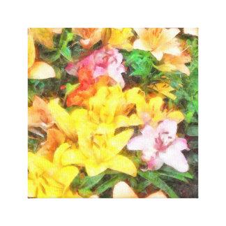 Lilien Liebe und LichtWatercolor Leinwanddruck