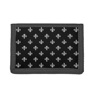 Lilien-Muster - Schwarz-weißer Designer