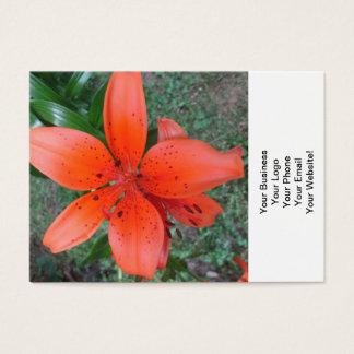 Lilien-Orangen-Stellen Visitenkarte