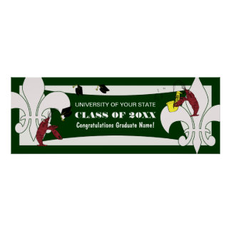 Lilien-Panzerkrebs-Abschluss-Fahne Poster