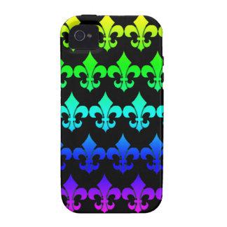 Lilien-Reihen in den Regenbogen-Farben iPhone 4/4S Hüllen
