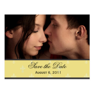 Lilien-Save the Date Postkarte