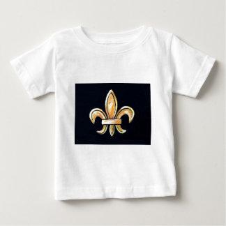 Lilien-Schwarzes und Gold Baby T-shirt