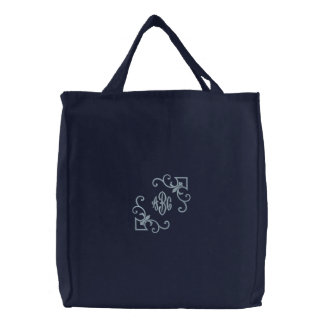 Lilien-Tasche Monogramm Bestickte Tasche