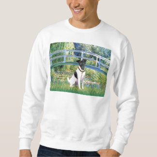 Lilien-Teich-Brücke - glatter Foxterrier Sweatshirt