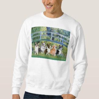 Lilien-Teich-Brücke - WaliserCorgis (fünf) Sweatshirt
