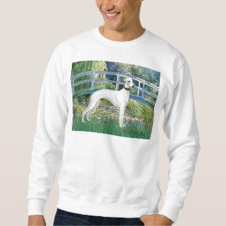 Lilien-Teich-Brücke - weißes Whiipet (11b) A Sweatshirt