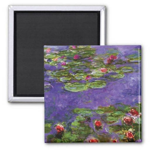 Lilien-Teich-Impressionismus Monet Magnet Magnete
