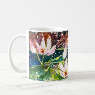 Lilien-Teich Watercolordruck Kaffee-Tasse Kaffeetasse