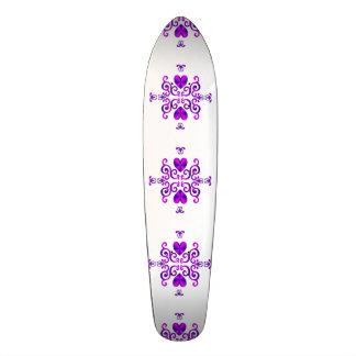 Lilien-und Herz-Fantasie Rainbowart 18,1 Cm Old School Skateboard Deck
