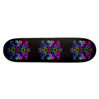 Lilien-und Herz-Fantasie Rainbowart 18,4 Cm Mini Skateboard Deck