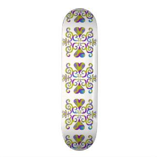Lilien-und Herz-Fantasie Rainbowart 19,7 Cm Skateboard Deck