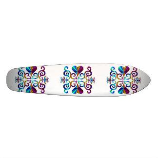 Lilien-und Herz-Fantasie Rainbowart 20,1 Cm Skateboard Deck