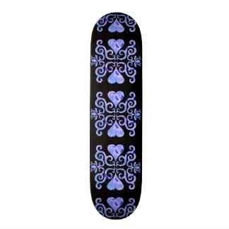 Lilien-und Herz-Fantasie Rainbowart 20,6 Cm Skateboard Deck