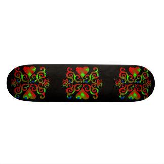 Lilien-und Herz-Fantasie Rainbowart 21,6 Cm Skateboard Deck