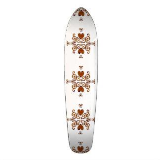 Lilien-und Herz-Fantasie Rainbowart Skateboard