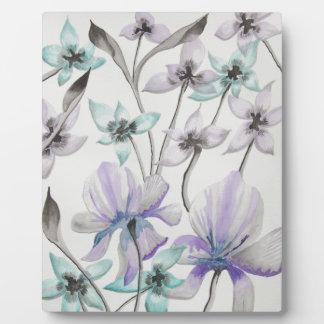 Lilien und Orchideen Fotoplatte