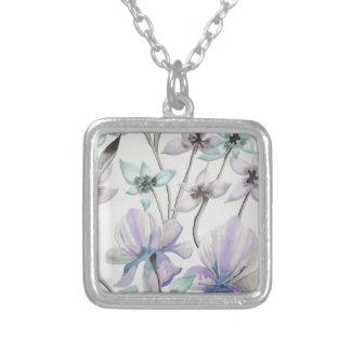 Lilien und Orchideen Versilberte Kette