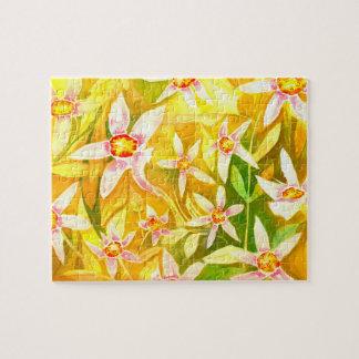 Lilien-Wasserfarbe-Laubsäge Puzzle