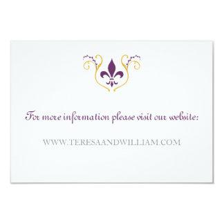 Lilien-Website-Karte 8,9 X 12,7 Cm Einladungskarte