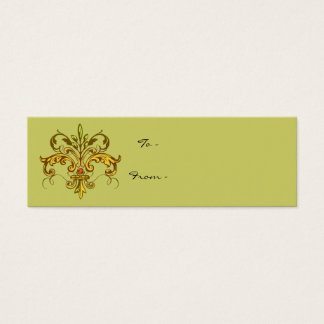 Lilien-Weihnachten Mini Visitenkarte