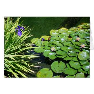 Lilienauflage und kleine Schlange Karte