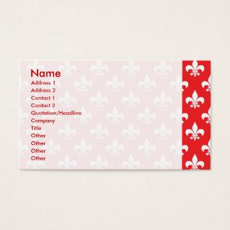 Lilienmuster auf Rot Visitenkarte