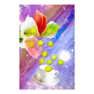 Lilientropfen-Tennisbälle zum zu feiern. Briefpapier
