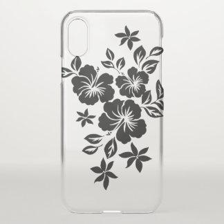 Lilikoi Hibiskus-hawaiisches Blumenschwarzes iPhone X Hülle