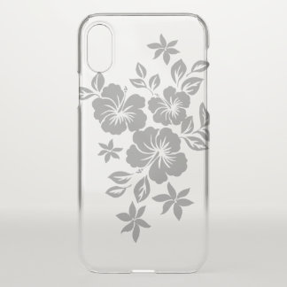 Lilikoi Hibiskus-hawaiisches Blumensilber iPhone X Hülle