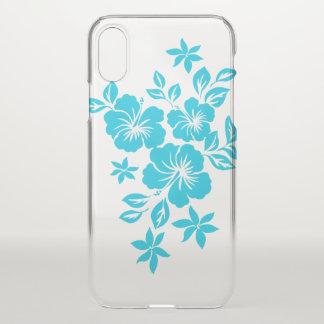 Lilikoi Hibiskus hawaiisches BlumenTurq iPhone X Hülle