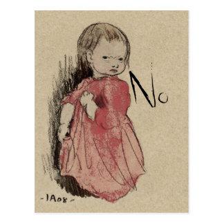 Lillan sagt kein CC0239 Postkarte