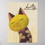 Lilly das Katzen-Plakat Poster