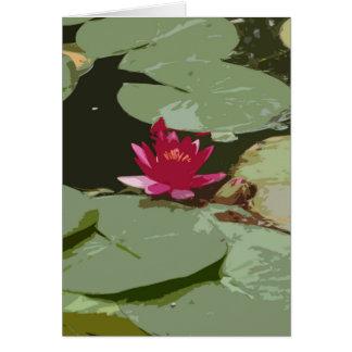 Lilypads Impressionismus-Kunst Grußkarte