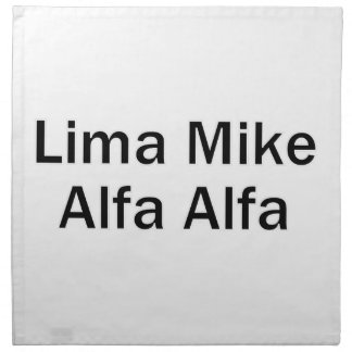 Lima Mike Alfa LMAA Stoffserviette