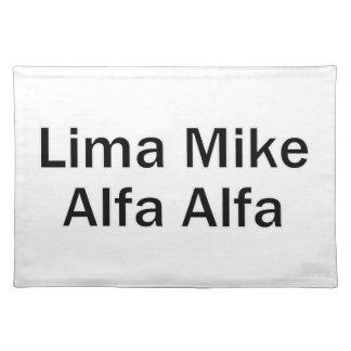 Lima Mike Alfa LMAA Stofftischset